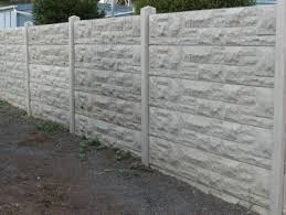 concrete fencing-prominent pattern