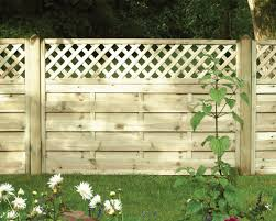 straight top trellis fencing
